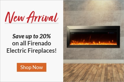Save up to 20% on Firenado Electric Fireplaces