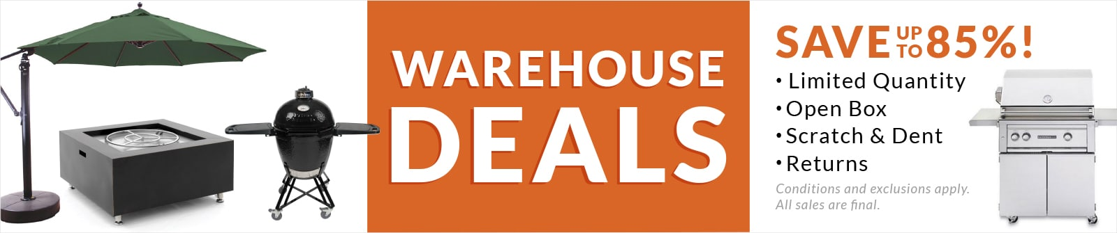 Warehouse Deals Banner