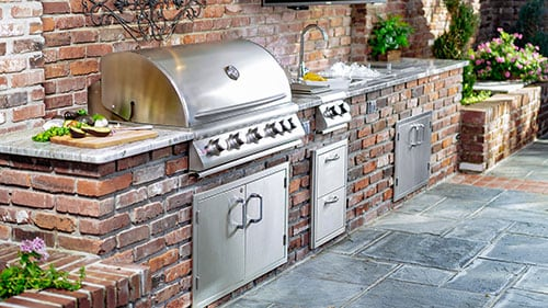 Outdoor Kitchen Island with Blaze and BBQGuys Storage