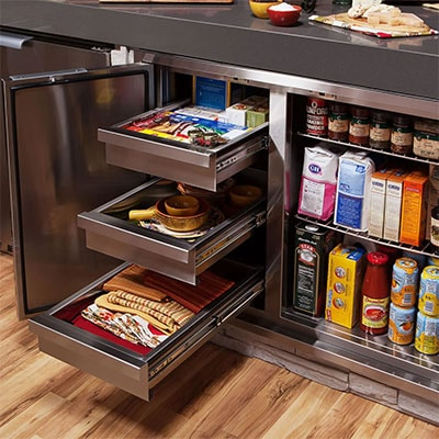 BBQGuys Outdoor Access Door and Drawer Combo