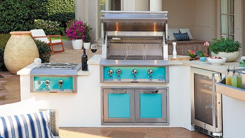 Hestan Signature Colors Outdoor Kitchen Island