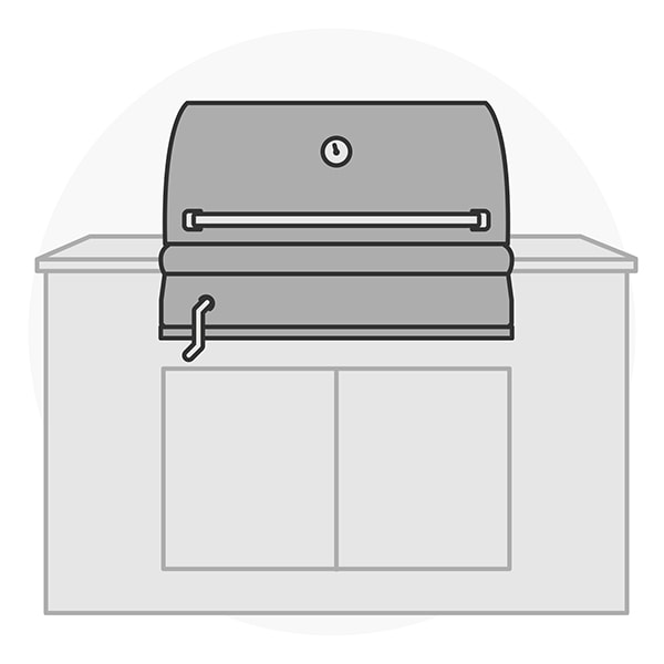 Built-In Charcoal Grill Silhouette