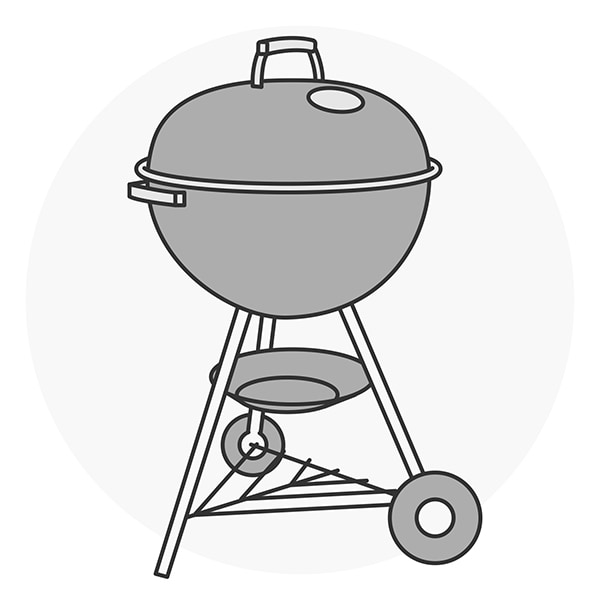 Freestanding Charcoal Grill Silhouette