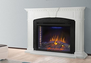 White Electric Fireplaces