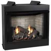 Ventless Gas Fireboxes