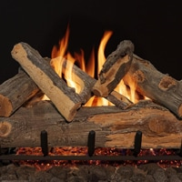 hand-painted gas logs