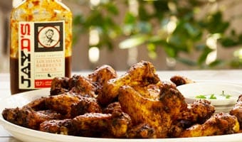 Smoked Fried Chickens Wing Recipe with Jay D's Barbecue Sauce