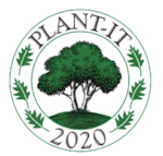 Plant-it 2020 logo. Tree surrounded by leaves