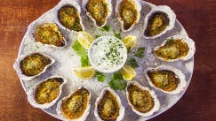 Char-Grilled Buffalo Style Oysters Recipe On The Half Shell