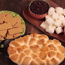 Homemade Coconut S'mores Skillet Dip