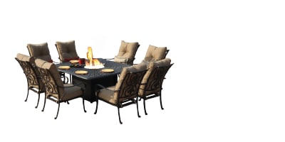 Fire Pit Dining Set