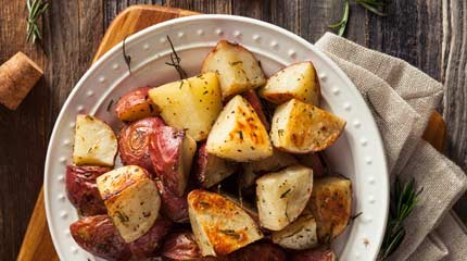 Pecan Smoked Herb Potatoes