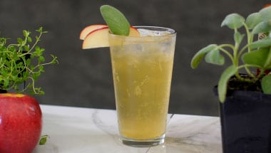 cider smoked sage summer sipper cocktail
