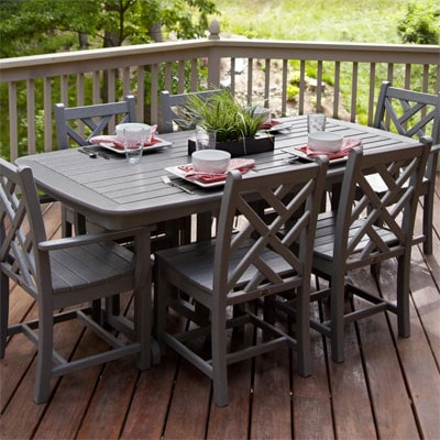 Chippendale 7 Piece Recycled Plastic Patio Dining Set By POLYWOOD