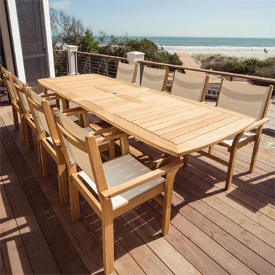 Captiva 9 Piece Teak Patio Dining Set By Royal Teak Collection
