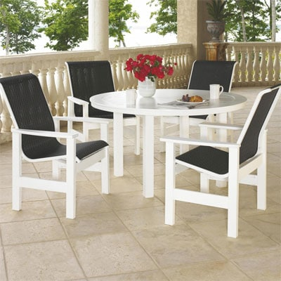 Leeward 5 Piece MGP Patio Dining Set By Telescope Casual