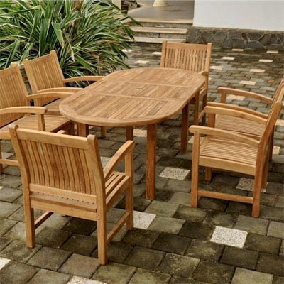 Bahama 7 Piece Teak Patio Dining Set By Anderson Teak