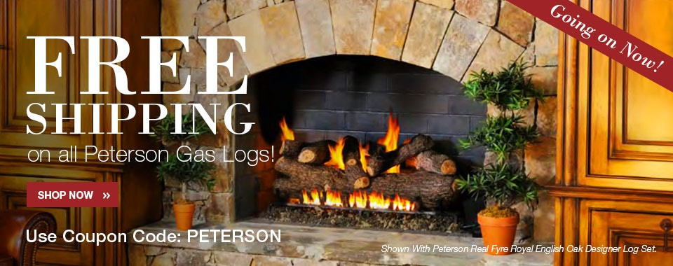 Free Shipping on all Peterson Gas Logs!